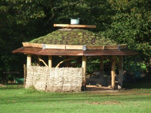 Community built Roundhouse Structure Morchard Bishop 2012